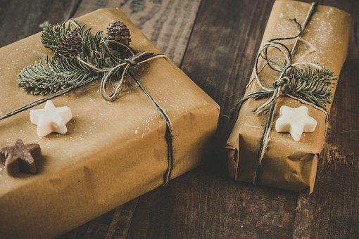 December, Christmas, Festive, Background, Presents