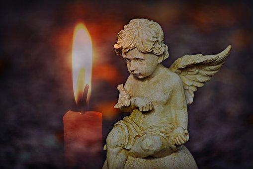 Angel, Cherub, Celestial, Flame, Candle, Divine