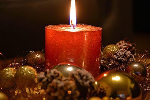 Candle, Christmas Candle, Candlelight, Light, Flame
