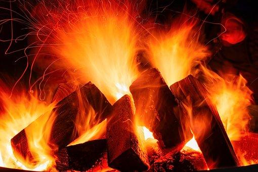 Open Fire, Fire, Embers, Flame, Hot, Burn, Heat, Glow