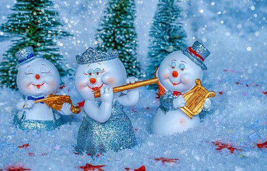Snowman, Music, Instruments, Celebrate, Entertainment