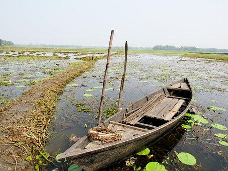 Boat, Water, Abandoned Boat, Nature, Fishing, Landscape