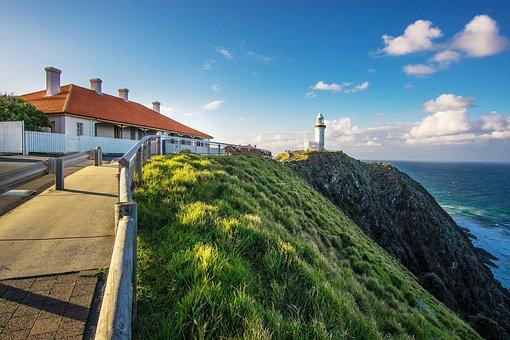 Lighthouse, Seascape, Coast, Ocean, Landscape, Light