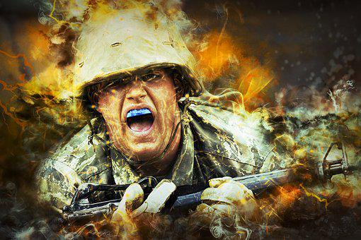 Soldier, Cadet, Military, Close-up, Macro, Training