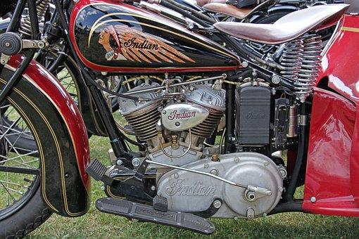 Indian, Motorcycle, Motor, Transport, Background