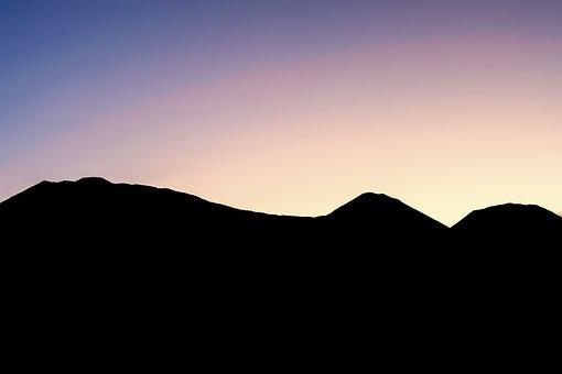 Sunrise, Mountains, Silhouette, Nature, Landscape, Sky