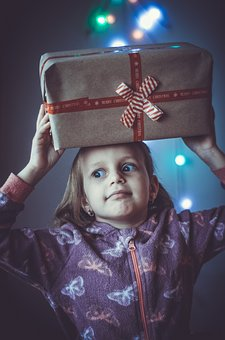 New Year Gifts, Kids, Emotions, Child, Red, Christmas
