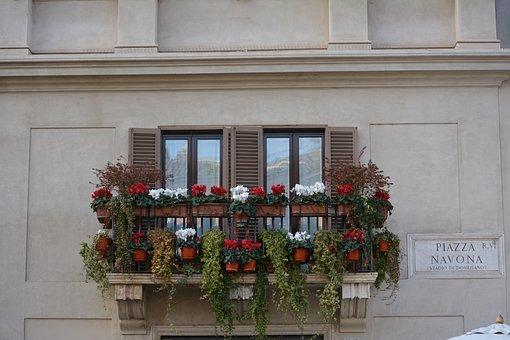 Italy, Rome, Navona, Piazza, Architecture, Tourism