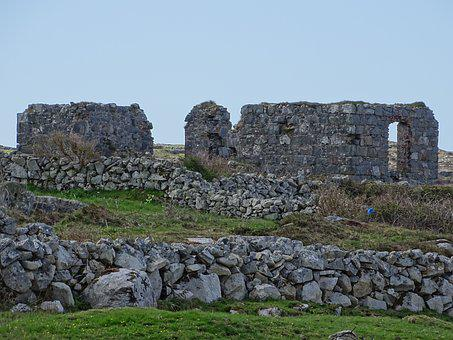 Ireland, Ruine, Ruin, Leave, Old, Building, Historical