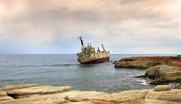 Ship, Wreck, Coast, General Average, Ship Wreck, Sea