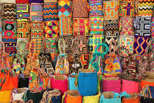 Bags, Colorful, Colombia, Market, Sale, Color, Shopping