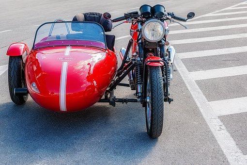 Motorcycle, Sidecar Machine, Sidecar Motorcycle