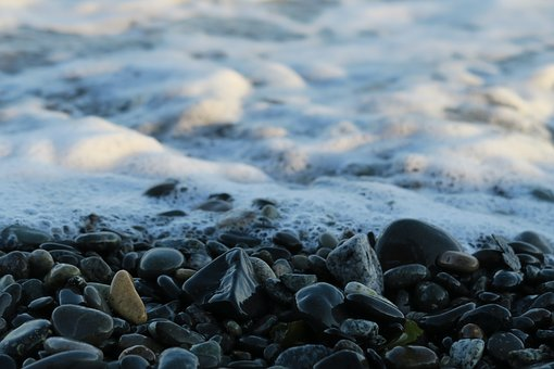 Sea, Stones, Canada, Water, Coast, Stone, Nature, Bank