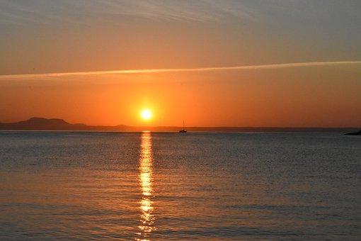 Sunrise, The Sun, Sea, Beach, East, Sky, Landscape