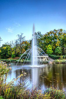 Lake, Water Feature, Fountain, Water, Sky Blue, Park