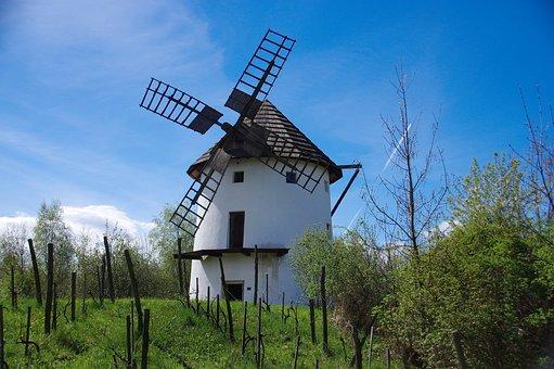 Mill, Windmill, Skanzen, Chomutov