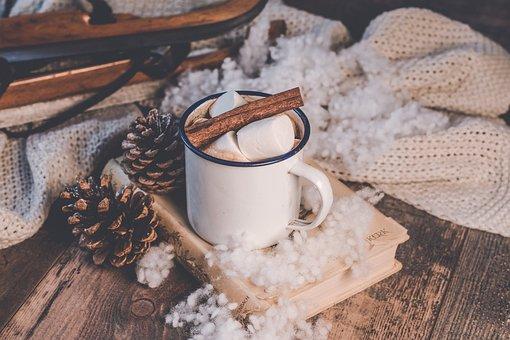 Winter, Background, Coffee, Marshmallows, Cinnamon