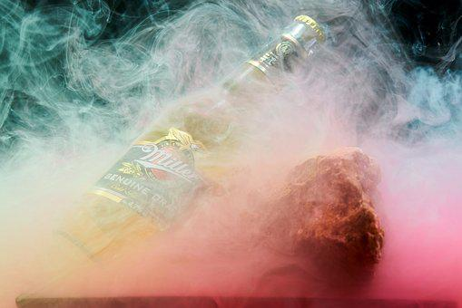 Beer, Miller, Brand, Smoke, Paint, Ink, Alcohol, Ad