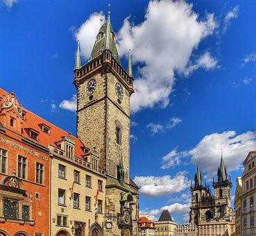 Czech Republic, Prague, City, Architecture