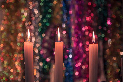 New Year's Eve, Background, Christmas, Candles, Glitter