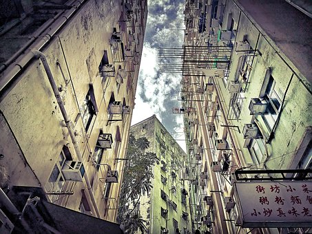 Kenndy Town, Hong Kong, Asia, Old, Building, Colorful