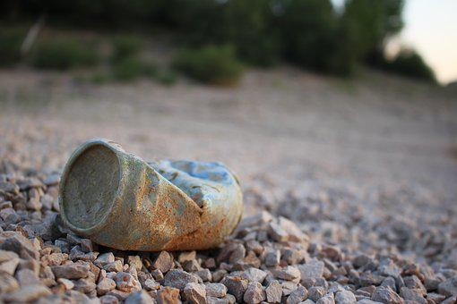 Can, Drink, Soft Drink, Soil, Stones, Recycle