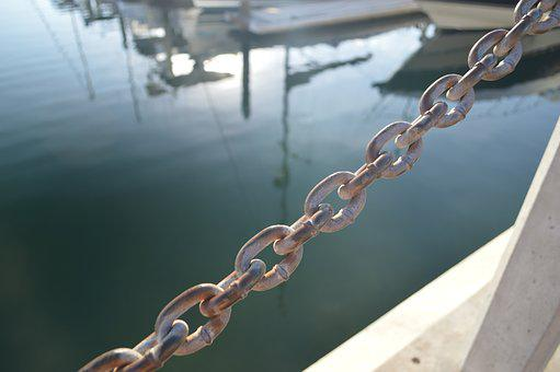 Boat, Waterfront, Chain, Focus