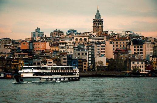 Galata, Tower, Ferry, Bosporus, City, Istanbul