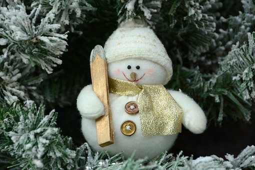Christmas, Garland, Decoration, Snowman