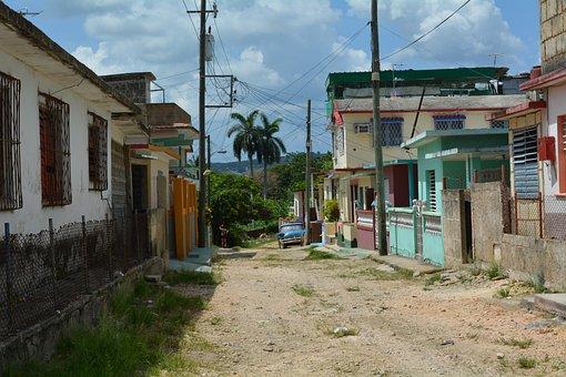 Cuba, Villages, Village, Road, House, Building, Old