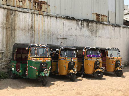 Transport, India, Hyderabad, Taxi, Tuk-tuk, Vehicle