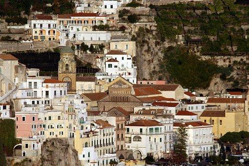 Amalfi, Costa, Italy, Positano, Sea, Mediterranean