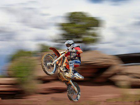 Motorcycle, Sport, Race, Motocross, Speed, Jump