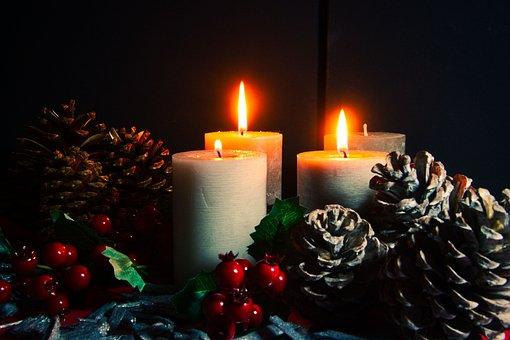 Advent, Third Advent, Candles, Tap, Decoration, Light