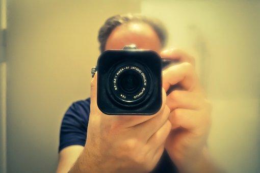 Self Portrait, Mirror, Photographer, Mirroring, Man