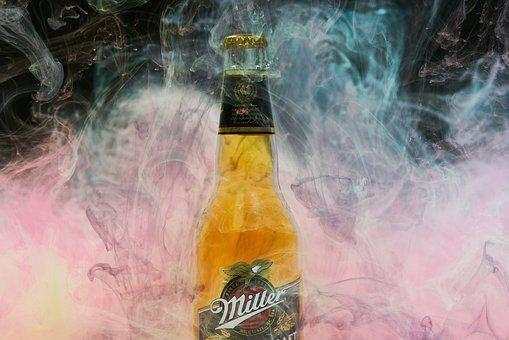 Beer, Miller, Smoke, Paint, Ink, Water, Great, Alcohol