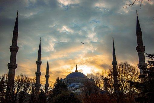 Mosque, Istanbul, Sunrise, Blue Mosque, Sultan Ahmet