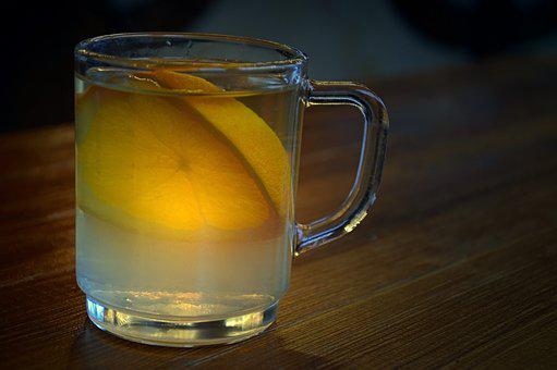 Glass, Mulled Claret, Lemon, Winemaker Glühweih, Drink