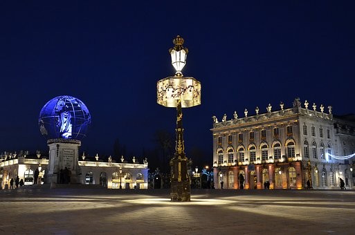 St Nicholas, Best Wishes, Nancy, Place Stanislas, Blue