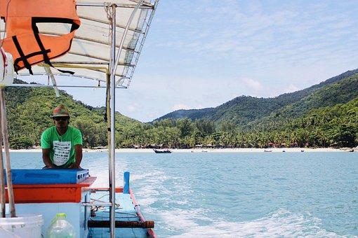 Boat, Thailand, Sea, Travel, Nature, Sky, Holiday