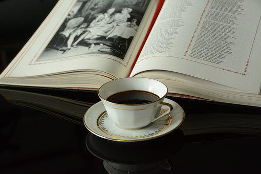 Cup, Coffee, Porcelain, Limoges, Book, Pause, Beverages
