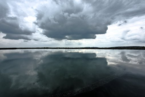 Clouds, Water, Sky, Drama, Reflection