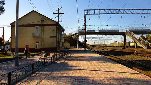 Station, Track, Tile, Electricity, Transport, Railway