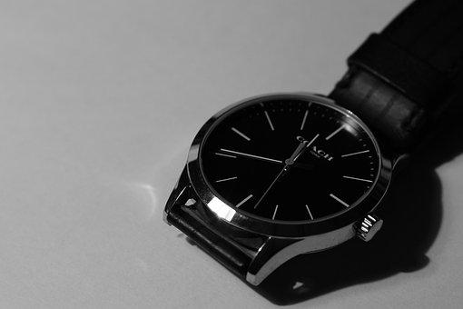 Watch, Black And White, Time, Clock, Antique, Nostalgia