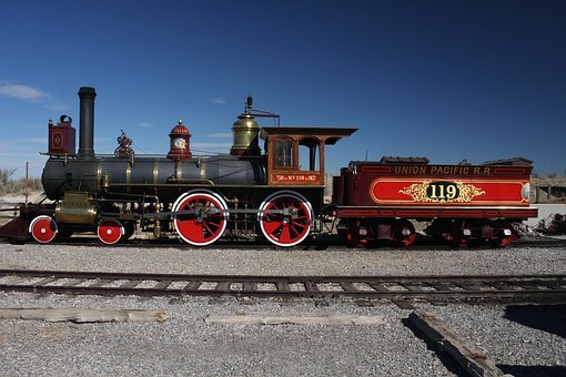 Train, Transcontinental Railroad, 119, Steam Engine