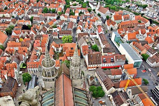 Ulm, Church, Building, Münster, Architecture, Steeple