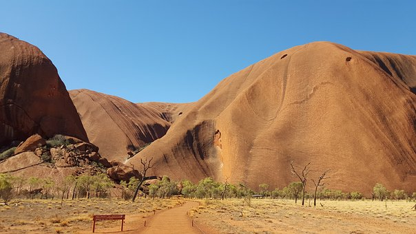 Australia, Rock, Mountains, Landscape, Outback, Uluru