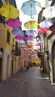 Sun, Parasols, Historic Center, Vacations, Summer