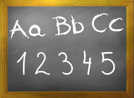 Blackboard, Abc, Chalkboard, Board, Back To School