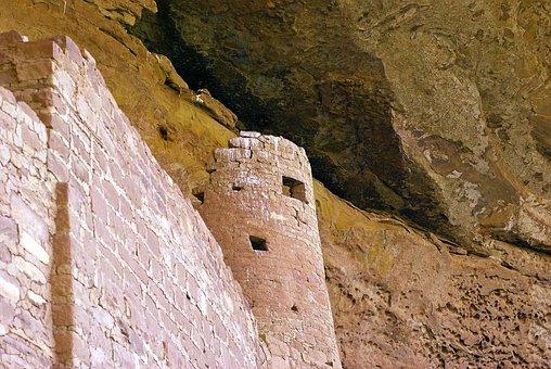 Cliff Palace Tower, Ruin, Anasazi, Mesa, Verde